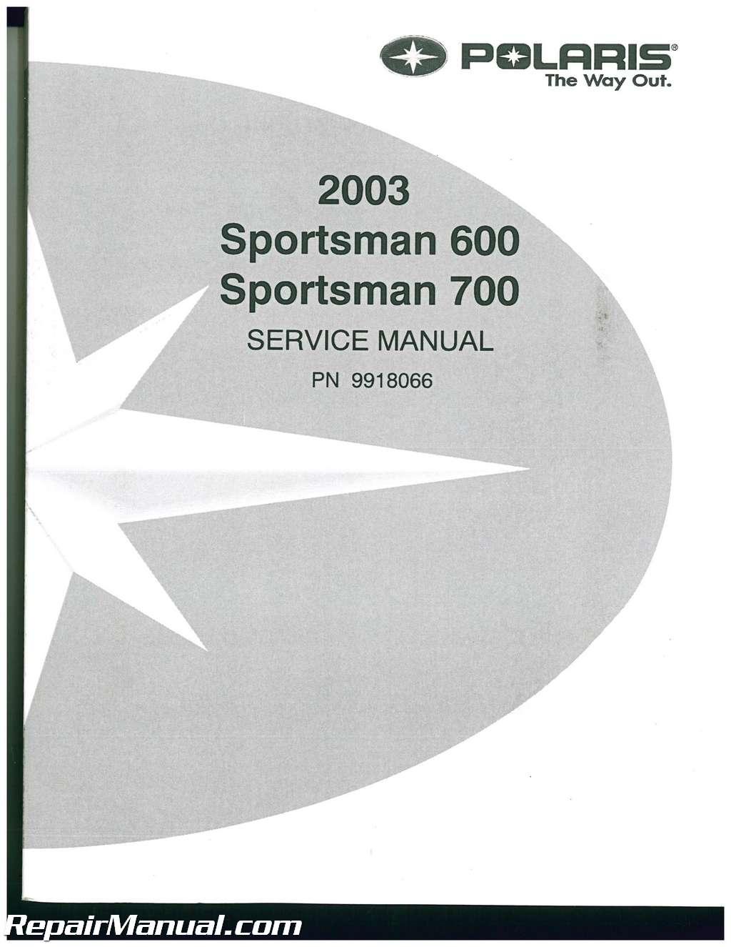 2002 2003 polaris sportsman 600 700 twin atv service manual rh ebay com 2004 polaris sportsman 700 service manual pdf 2003 polaris sportsman 700 owners manual