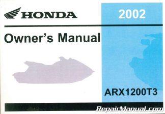 2004 honda arx1200n2 aquatrax r 12 owners manual