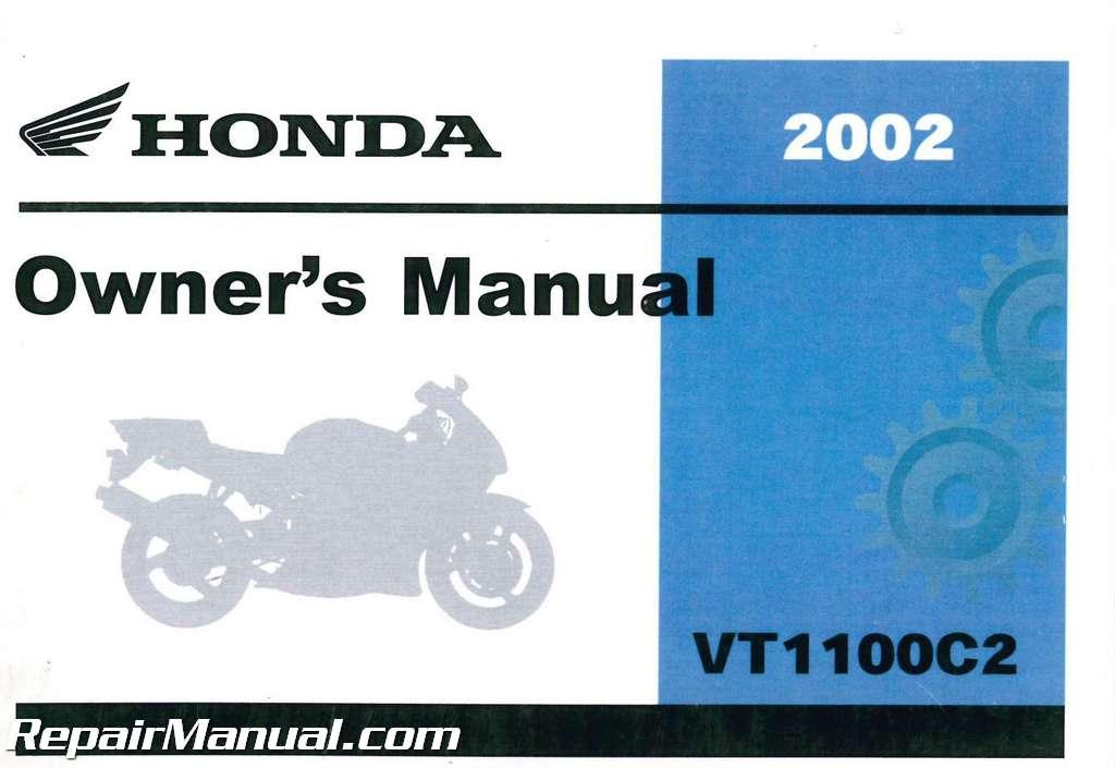 2002 Honda Vt1100c2 Shadow Sabre Motorcycle Owners Manual