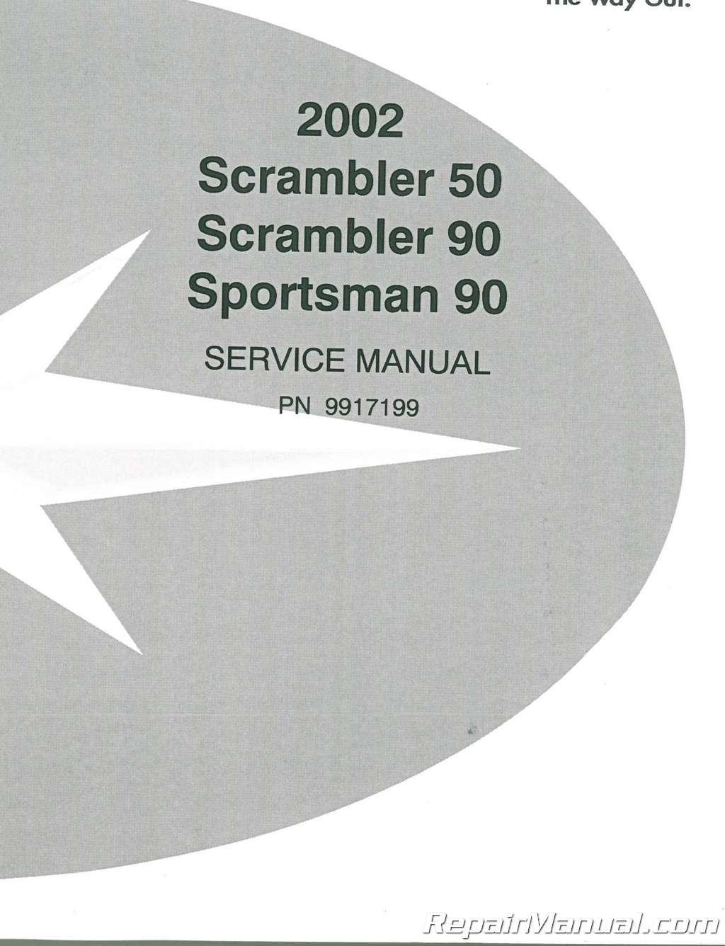 2002 Polaris Scrambler 50 90 SPORTSMAN 90 Service Manual
