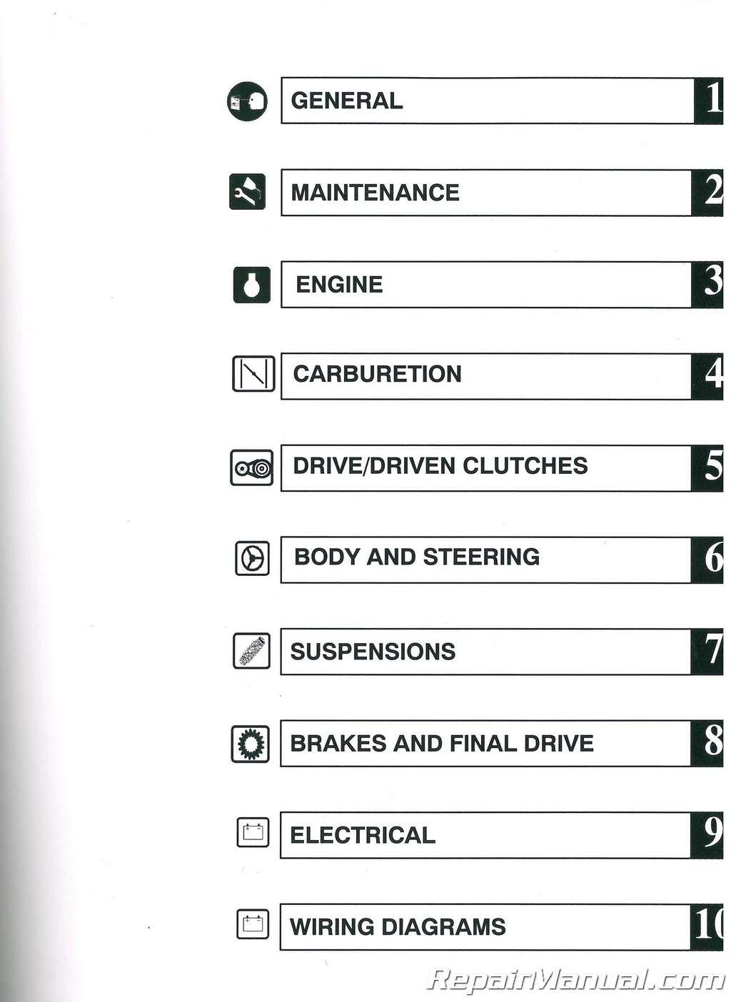 2002 polaris xc sp and xcr performance snowmobile service manual rh repairmanual com pfaff performance 2056 service manual martin viper performance service manual