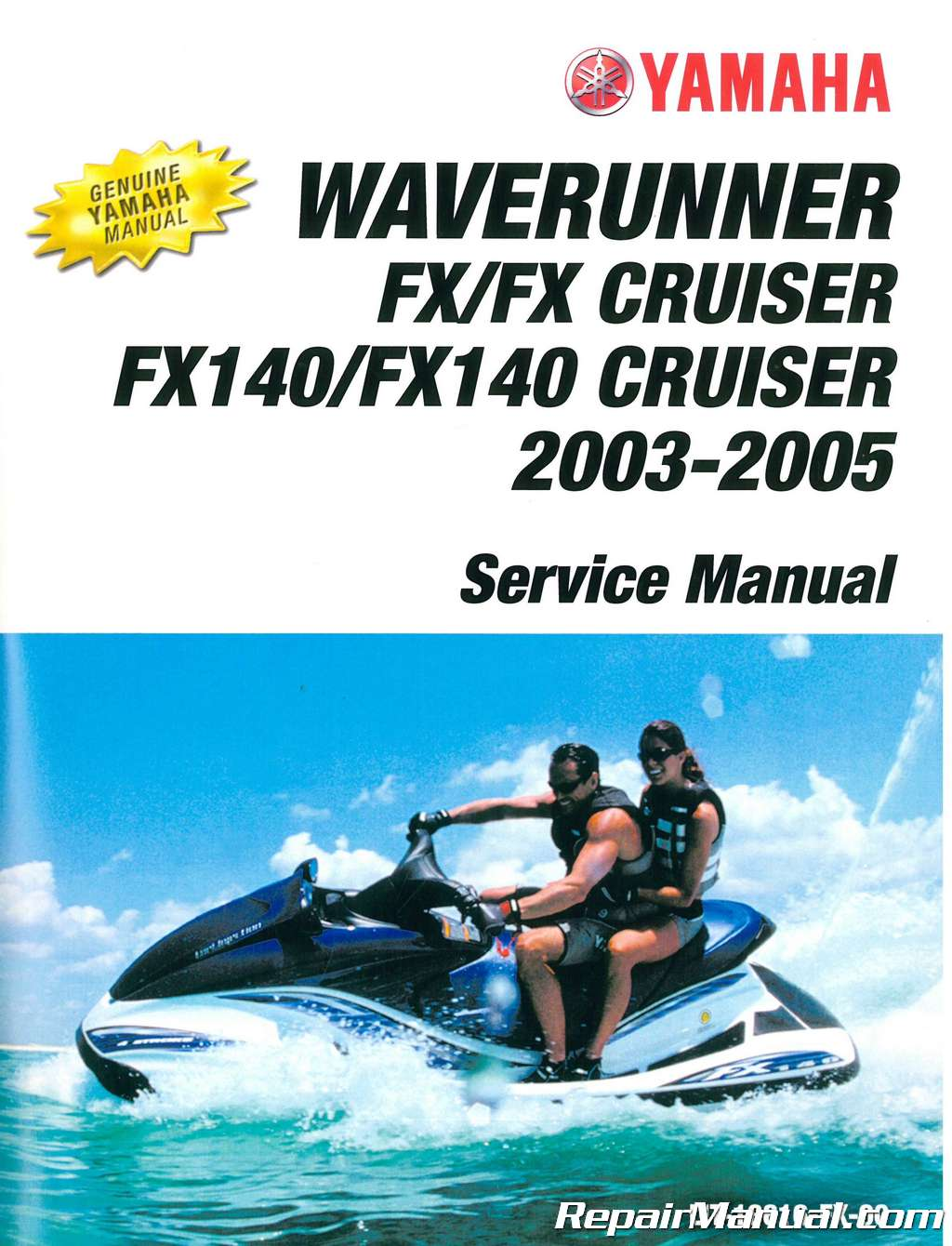 1996 Yamaha Waverunner Manual One Word Quickstart Guide Book Schematics 2003 2005 Fx Cruiser Fx140 Service Rh Repairmanual Com Waveraider 760