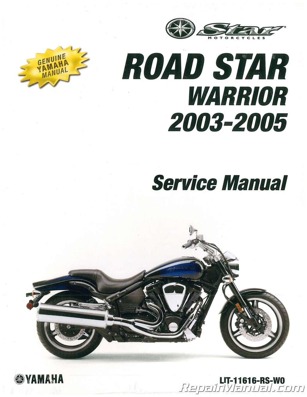 2003 2005 yamaha xv1700 road star warrior motorcycle service manual rh repairmanual com 2004 yamaha road star 1700 service manual yamaha road star xv1700 service manual