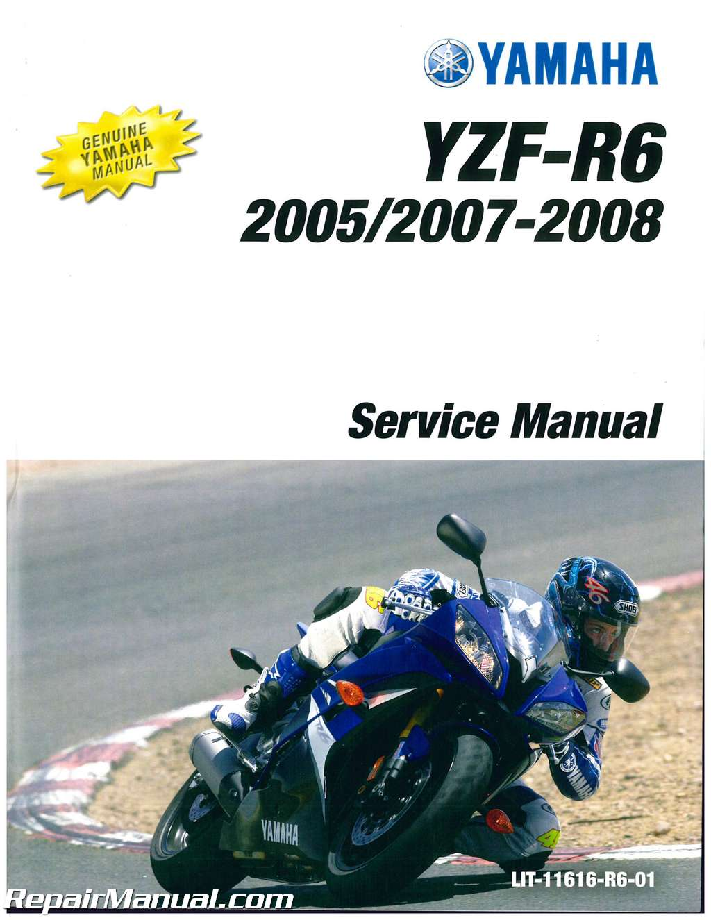 2003 2005 yamaha yzf r6 and 2006 2009 yzf r6s service manual lit rh ebay com 2008 yzf r6s owners manual 2008 yamaha r6 owner's manual pdf