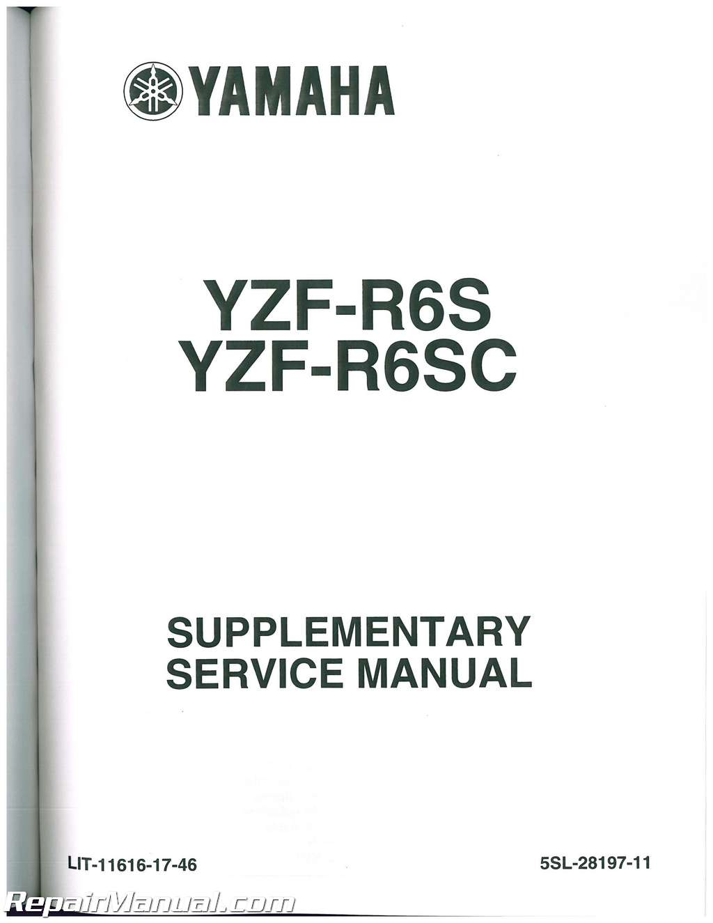 2003 yamaha yzf r6 service manual
