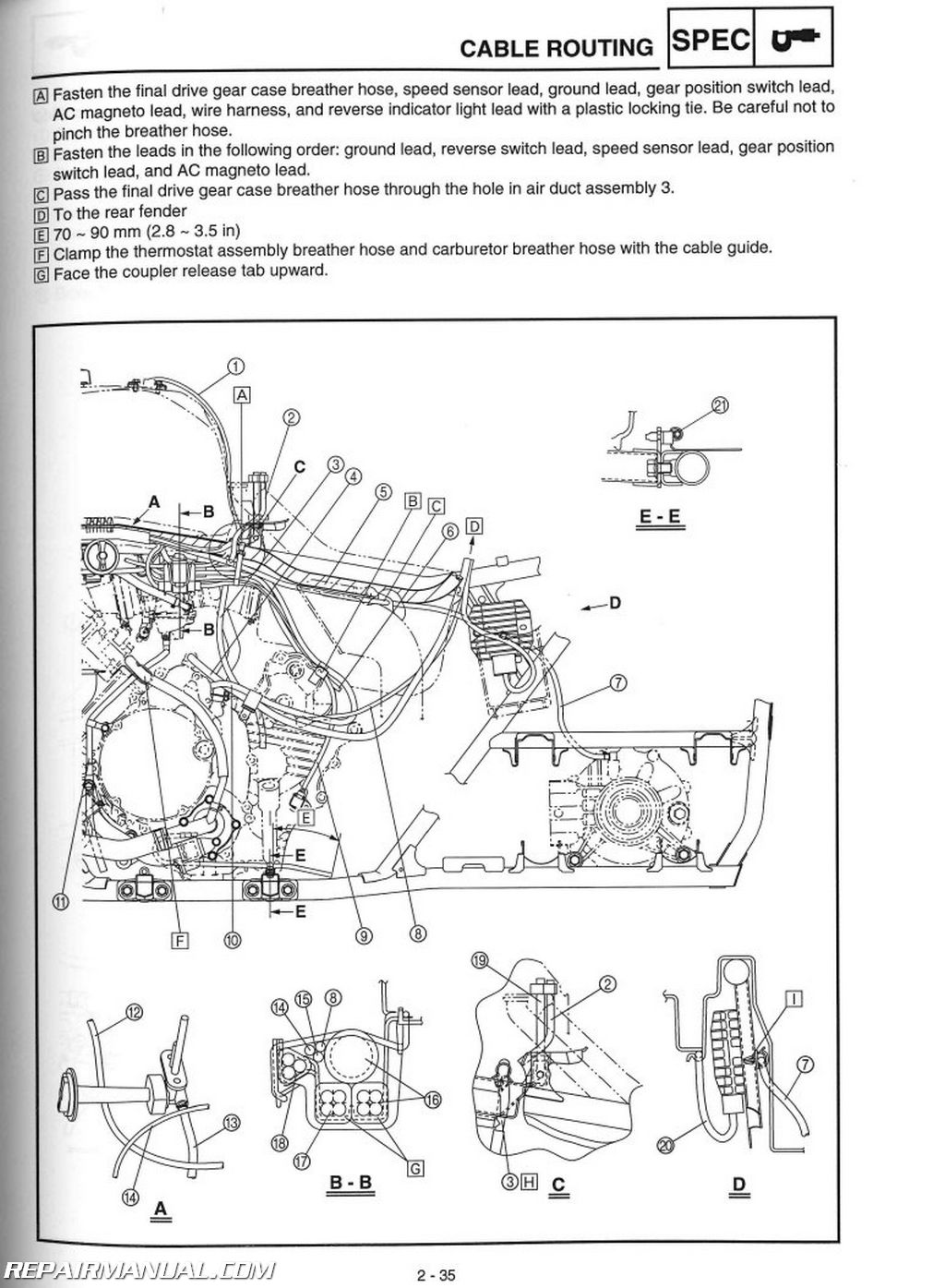 Yamaha Rhino 450 Wiring Guide And Troubleshooting Of Diagram Yfm660fa Grizzly 660 Atv Service Manual 2003 2008 2006
