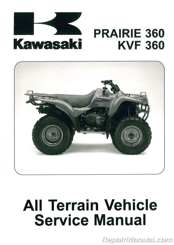 2003 2009 kawasaki kvf360b prairie atv service manual 99924 1302 rh ebay com kawasaki prairie 300 owners manual kawasaki prairie 300 service manual pdf