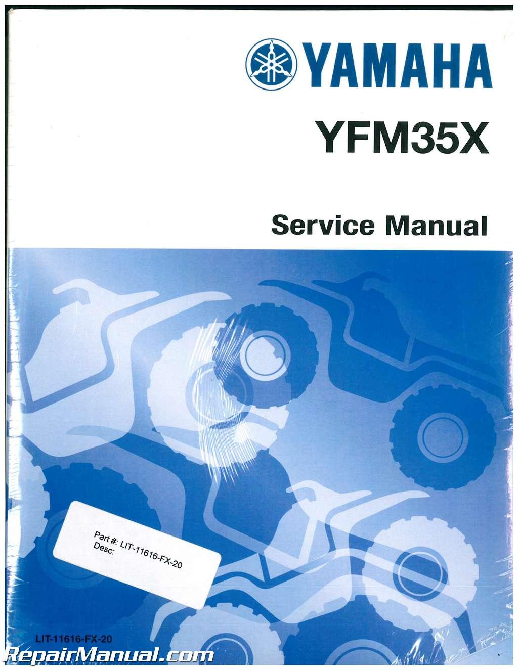 2003-2009 Yamaha YFM350X Bruin and Wolverine 350 and YFM400FA Kodiak Service  Manual