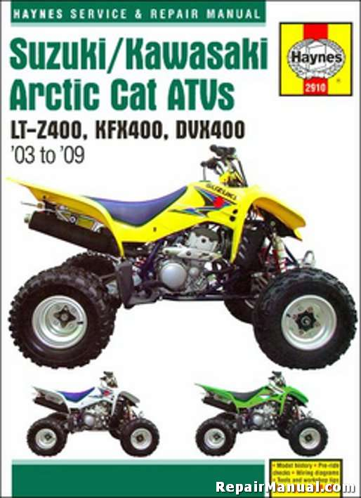 2003 2009 suzuki lt z400 kawasaki kfx400 arctic cat dvx400 repair manual h2910t arctic cat atv service manuals online 2006 arctic cat 400 4x4 wiring diagram at gsmx.co