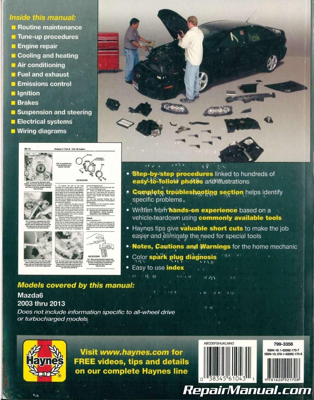 2003-2013 Mazda 6 Haynes Automotive Repair Manual