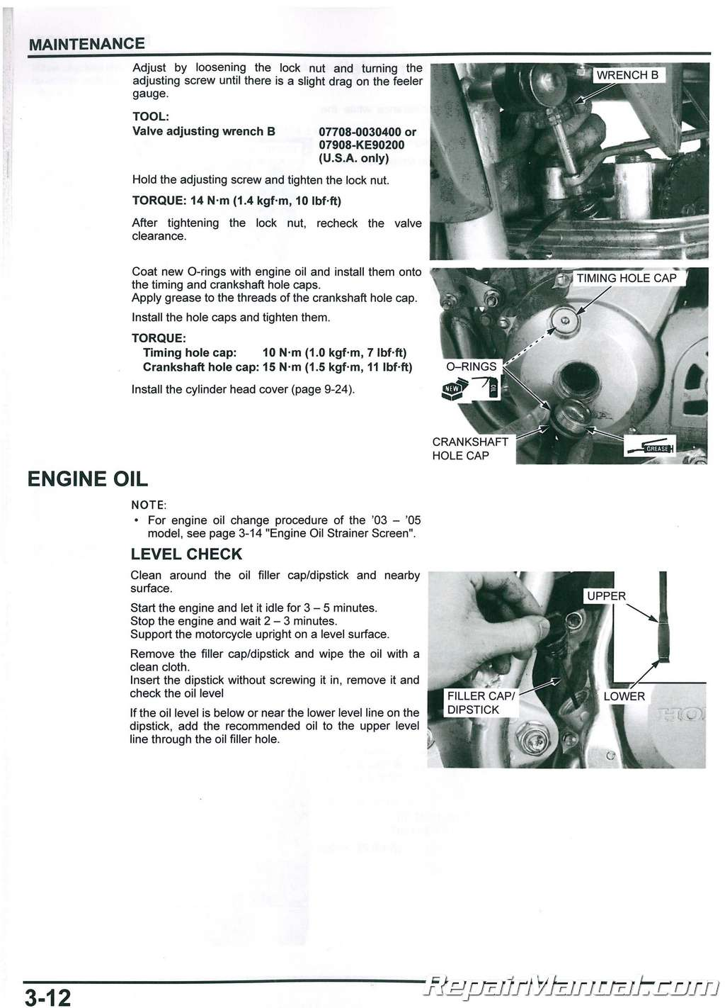 2017 Honda F12x Owners Manual