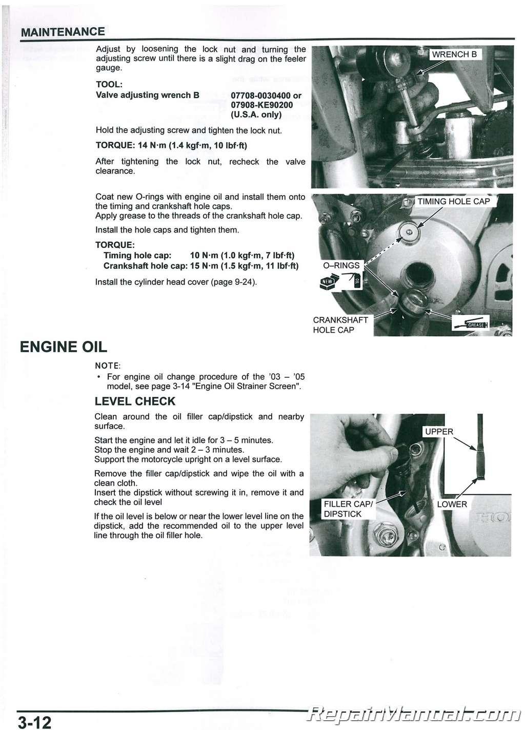 2003 2017 honda crf150f motorcycle service manual rh repairmanual com 2013 Honda CRF150F Honda CRF450R