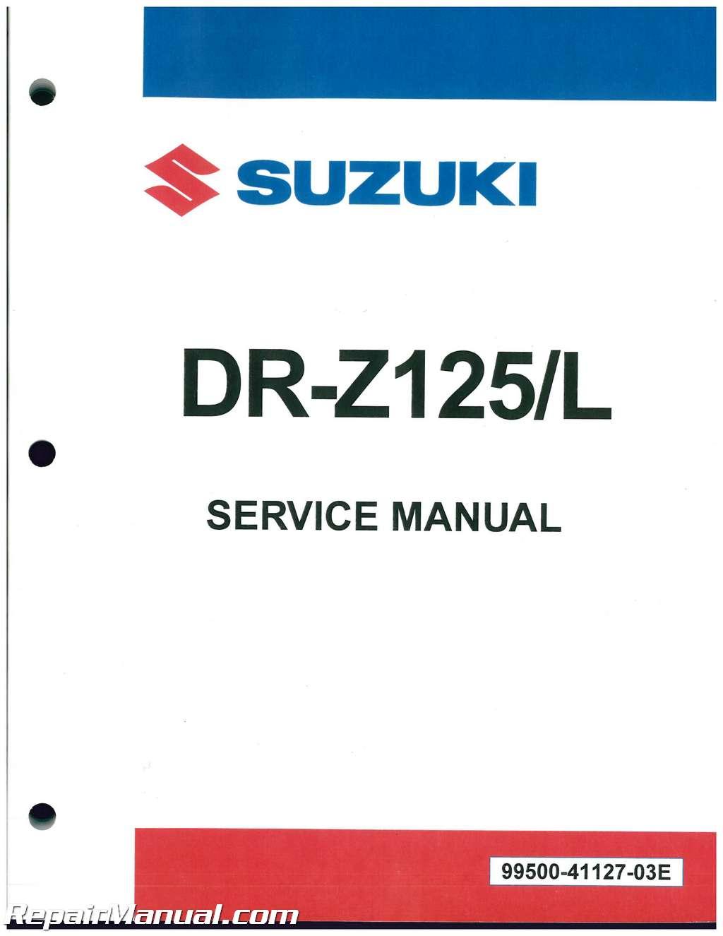 2003 2017 suzuki dr z125 dr z125l service manual rh repairmanual com suzuki rmx450z workshop manual suzuki rmx 450 service manual