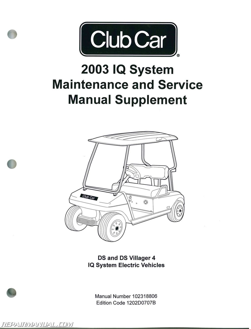 2003 Club Car IQ System Maintenance – Service Manual Supplement
