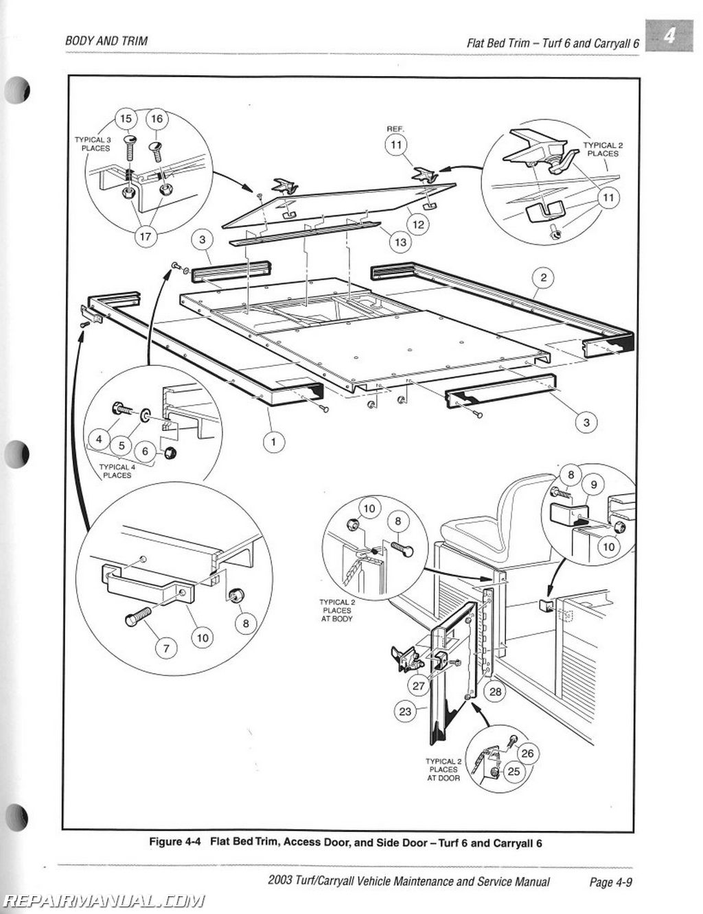 2003 club car turf / 2 / 6 / carryall 1 / 2 / 6 / plus ... club car precedent gas wiring diagram