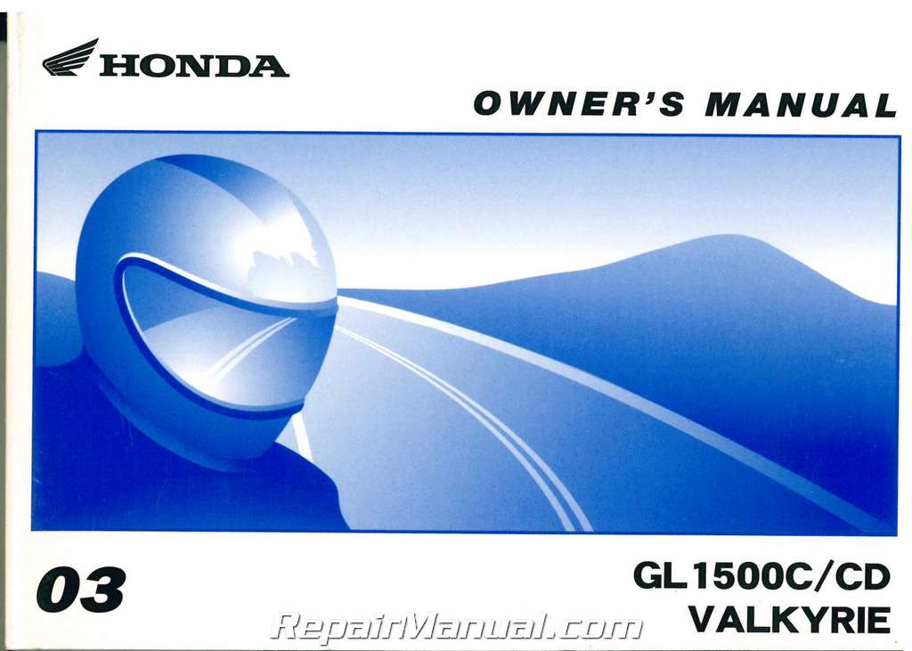 1998 honda valkyrie owners manual