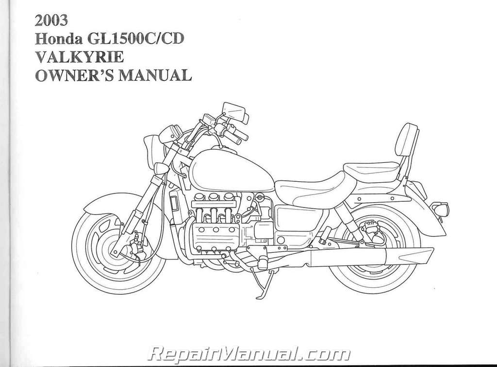 2003 honda gl1500 valkyrie motorcycle owners manual rh repairmanual com honda valkyrie service manual pdf honda valkyrie service manual free download