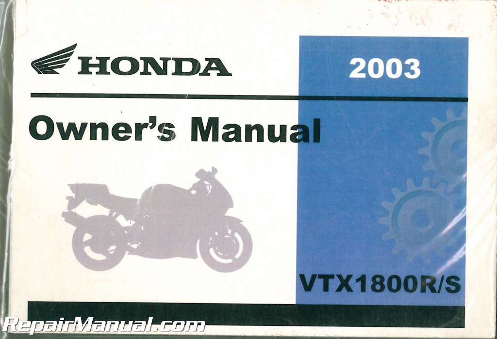 2003 honda vtx1800r s retro motorcycle owner manual rh repairmanual com motorcycle owners manuals yamaha motorcycle owners manuals online free