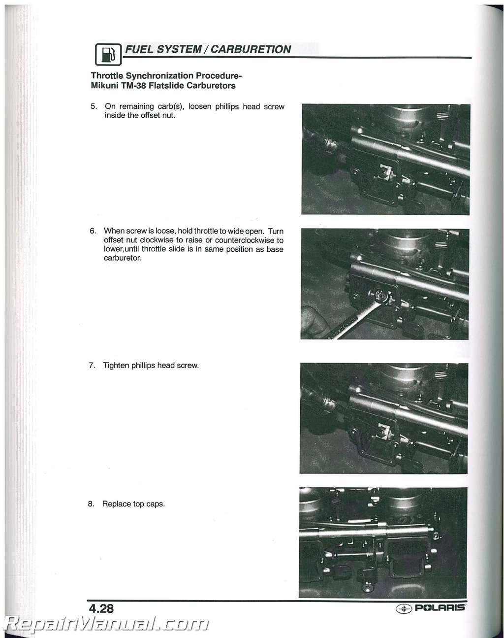 2003 Polaris 500 Classic 550/600/700 Classic Edge Snowmobile Service Manual