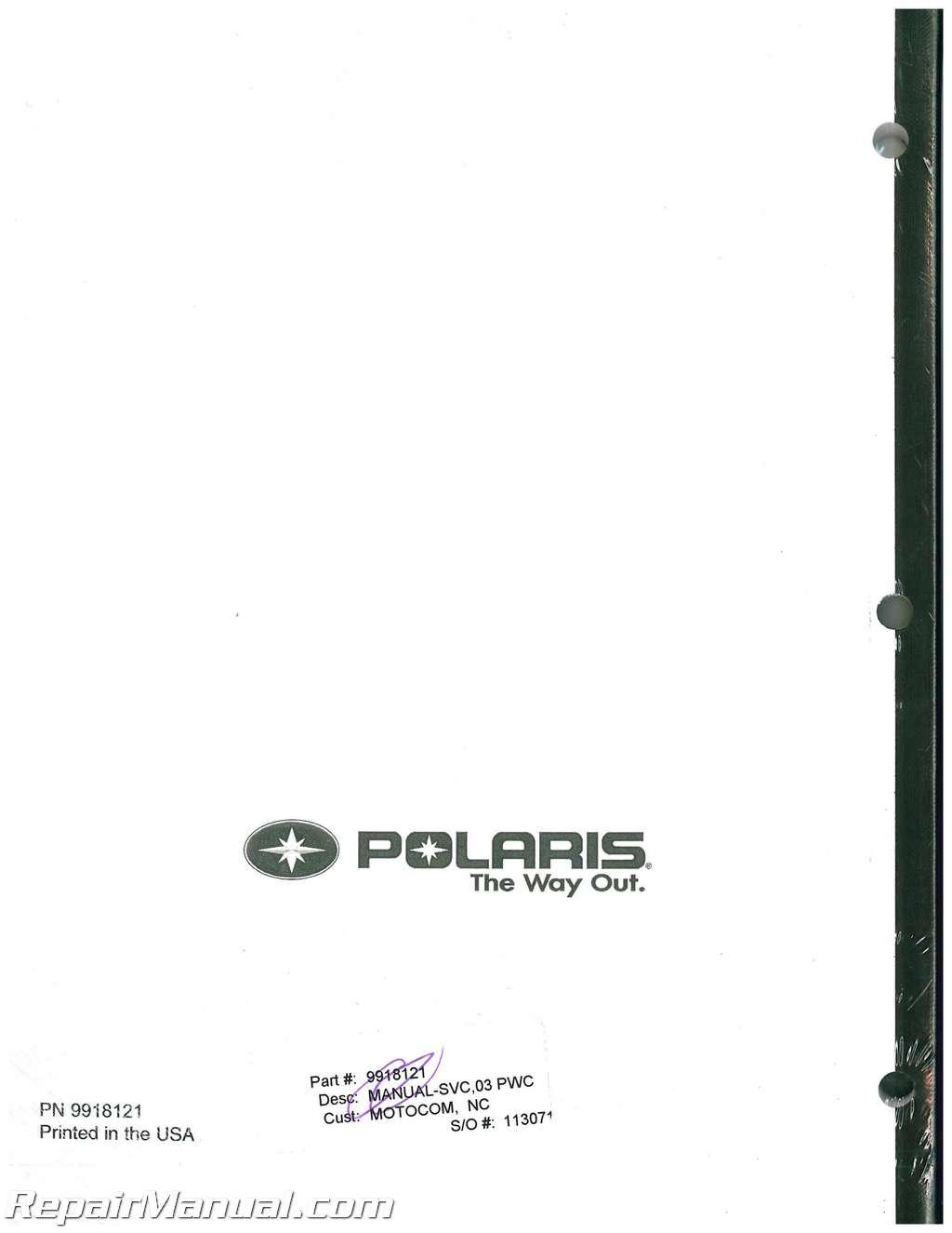 2003 polaris msx 140 service manual rh repairmanual com 2003 Polaris MSX 140 Specifications polaris msx 140 ho service manual