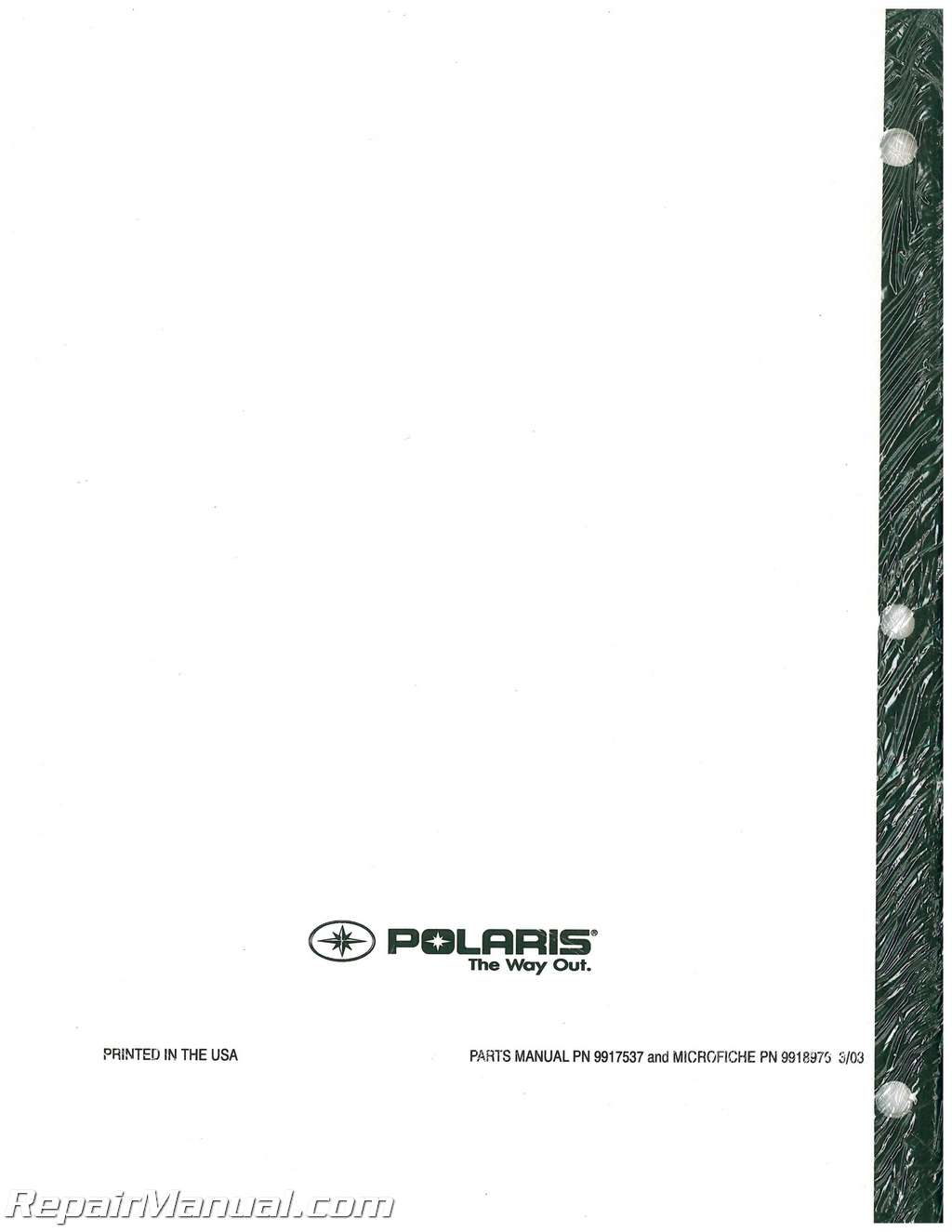 polaris sportsman 400 parts manual