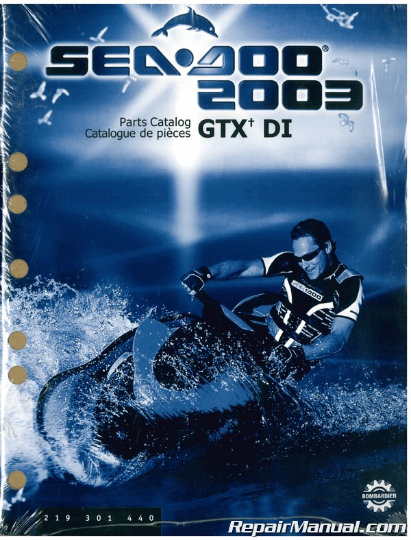 2003 Sea Doo Gtx Di Parts Catalog