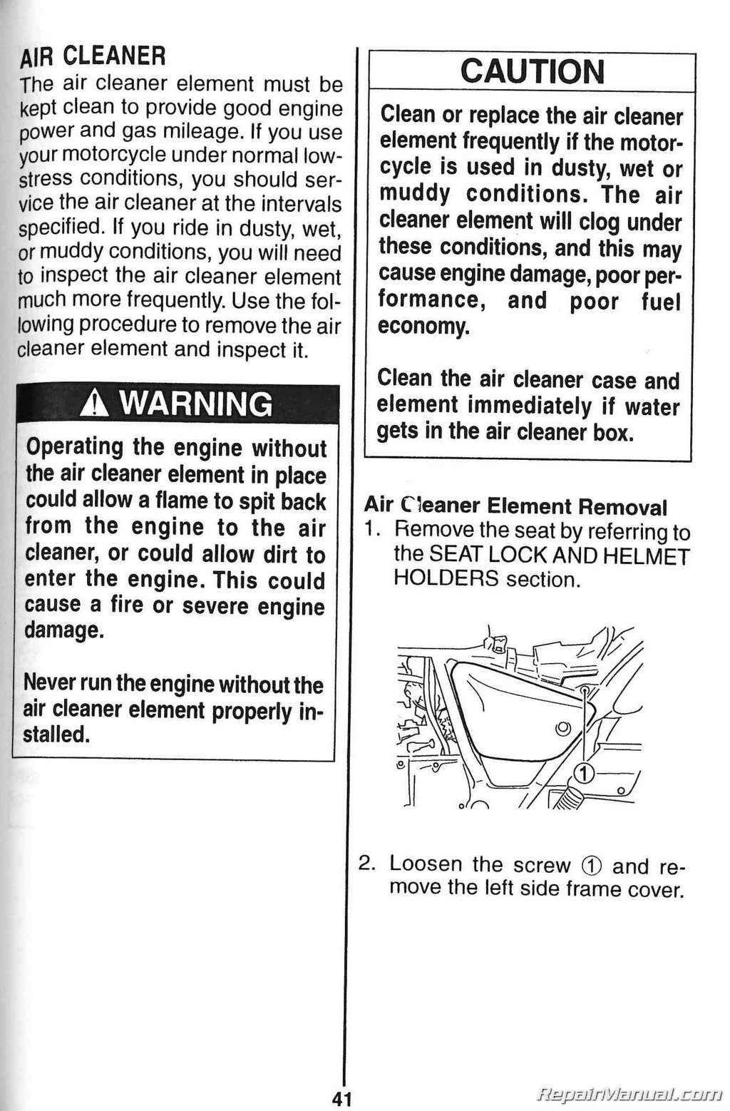 2003 2004 suzuki gz250 marauder owners manual