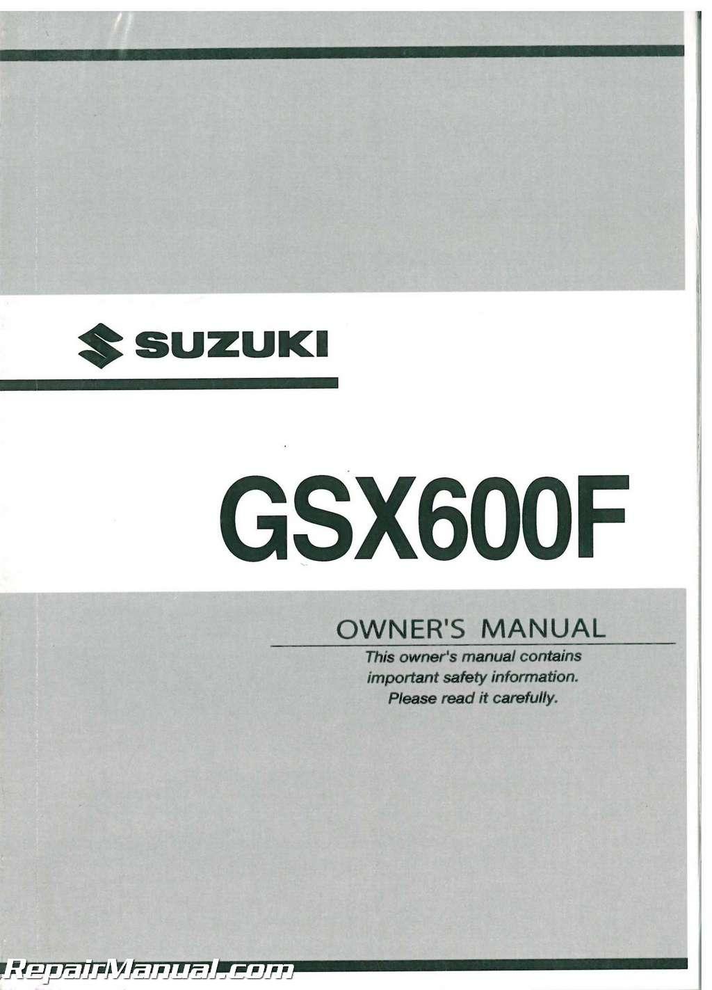 2003 suzuki katana gsx600f motorcycle owners manual 99011 19c65 rh ebay co uk suzuki gsx600f service manual free suzuki gsx600f repair manual