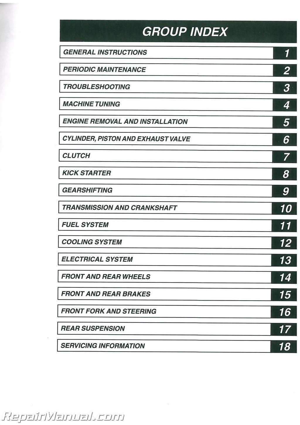 1982 suzuki rm250 fork rebuild instructions Array - 2003 suzuki rm125k3  motorcycle service manual owners manual rh repairmanual ...
