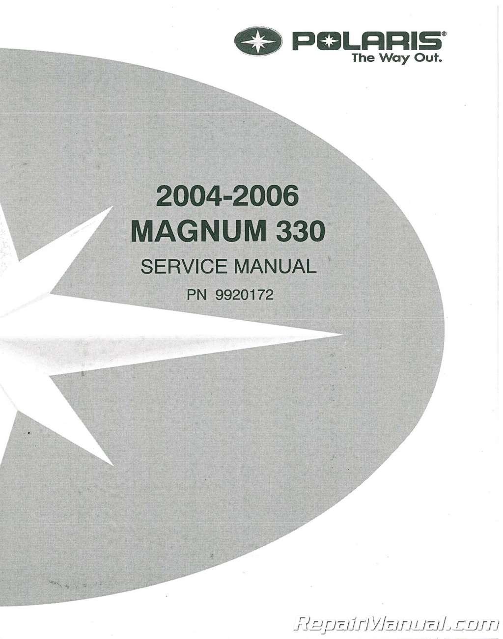 2003 polaris magnum 330 2003 polaris magnum 500 service manual.