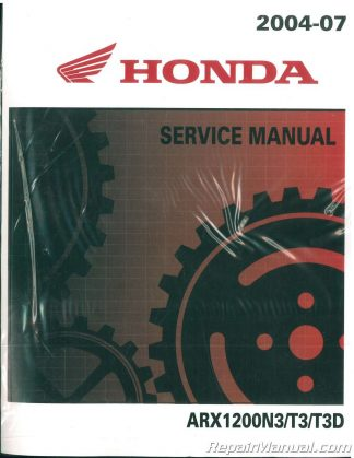 2005 honda aquatrax f 12x owners manual