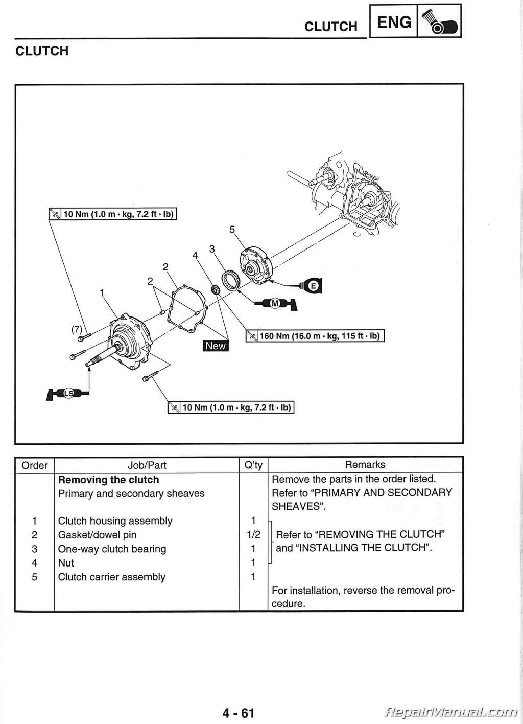 Yamaha Rhino  Repair Manual