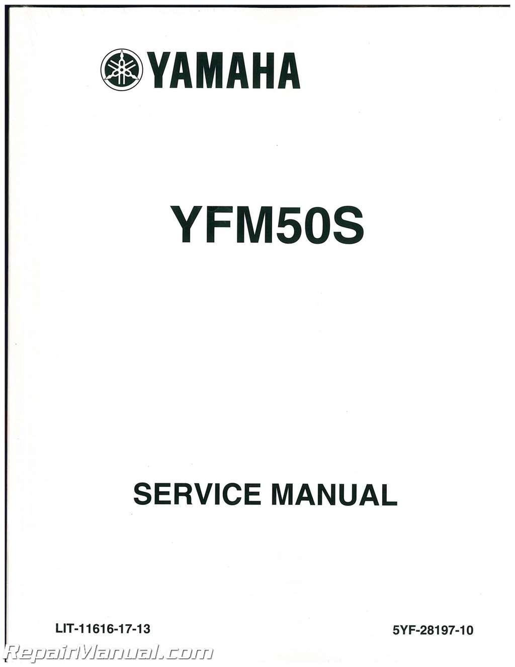 2004 2008 Yamaha Yfm50 Atv Raptor Service Manual