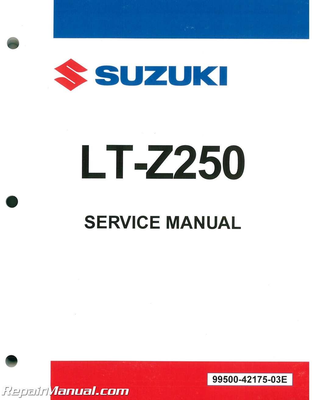 2004 2009 suzuki lt z250 quadsport atv service manual rh repairmanual com lt z250 service manual suzuki ltz 250 service manual repair
