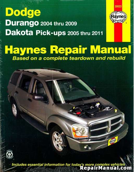2004 2009 dodge durango 2005 2011 dakota truck repair manual rh repairmanual com Dodge Dakota Wiring Diagrams Dodge Dakota Replacement Parts