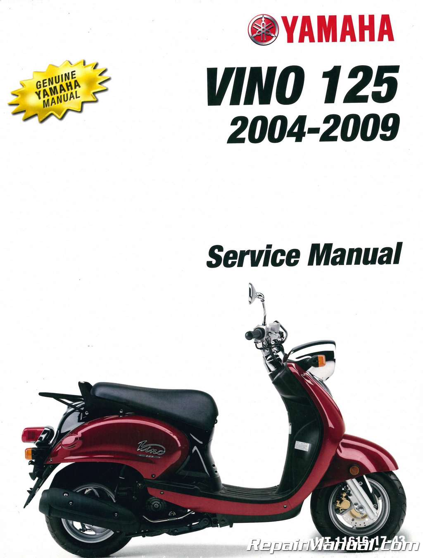2004 2010 yamaha yj125 vino 125 scooter service manual rh repairmanual com Yamaha Vino 50 Yamaha Vino 125 Scooter