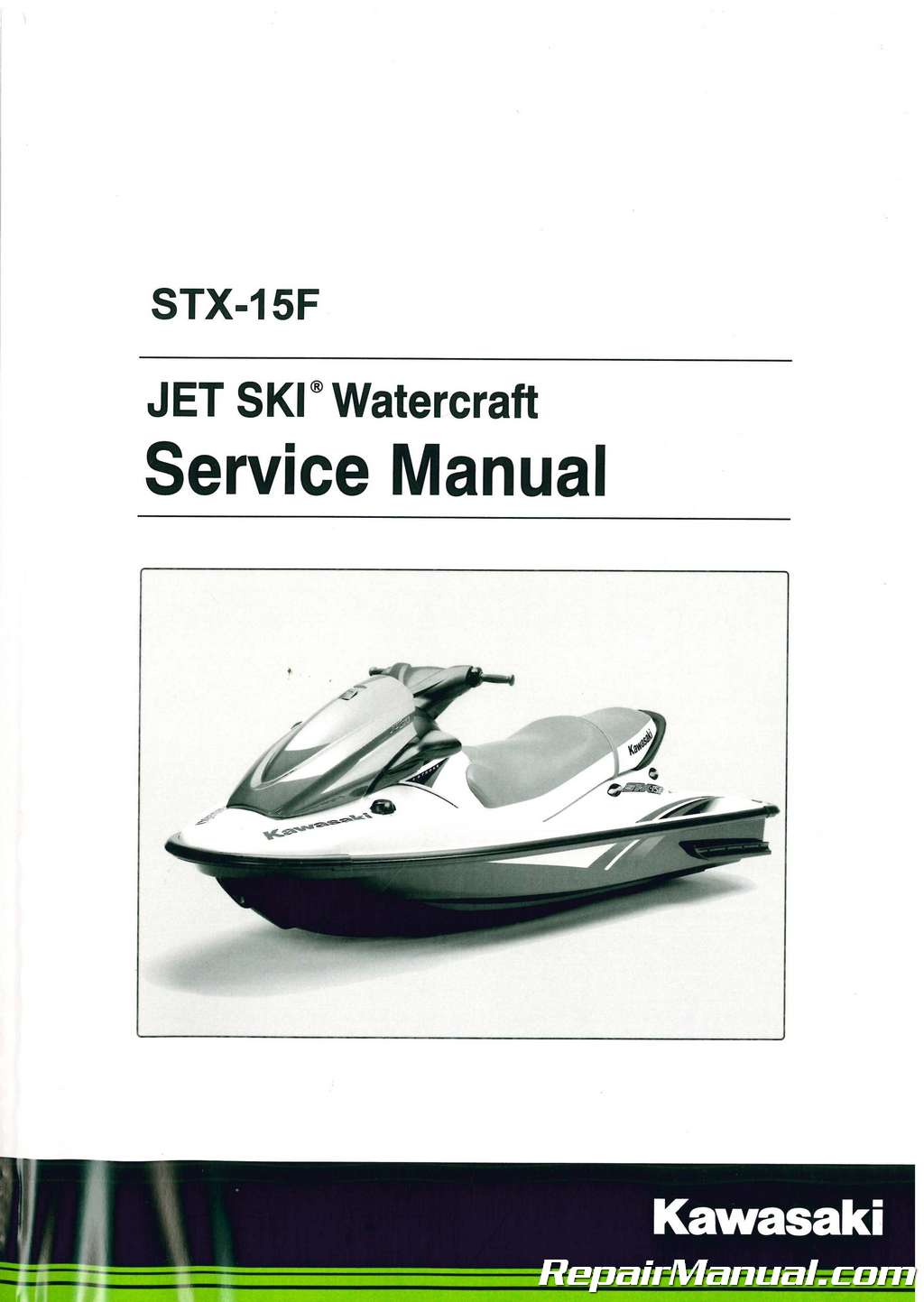2004 2017 kawasaki jt1500a jet ski stx 15f factory service manual rh  repairmanual com sea doo jet ski repair manual sea doo jet ski repair manual