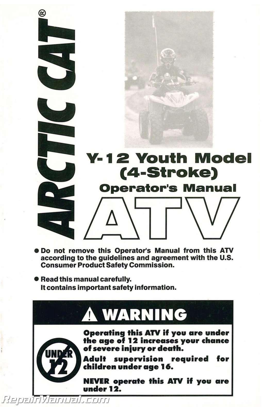 2004-Arctic-Cat-90-4-Stroke-ATV-Owners- ...