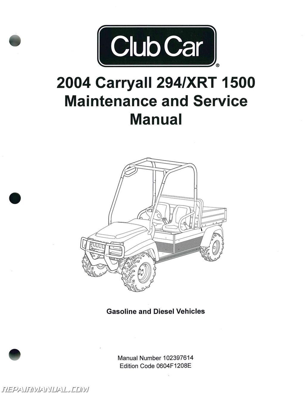 club car carryall 294 service manual enthusiast wiring diagrams u2022 rh  rasalibre co 36 Volt Club Car Wiring Diagram Gas Club Car Wiring Diagram