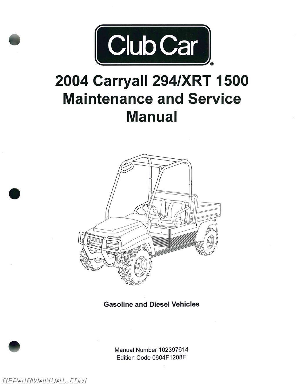 Club Car Xrt  Service Manual