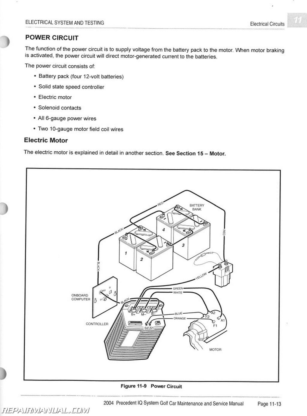 Wiring Diagram Vehicle : Club car precedent iq system electric vehicle