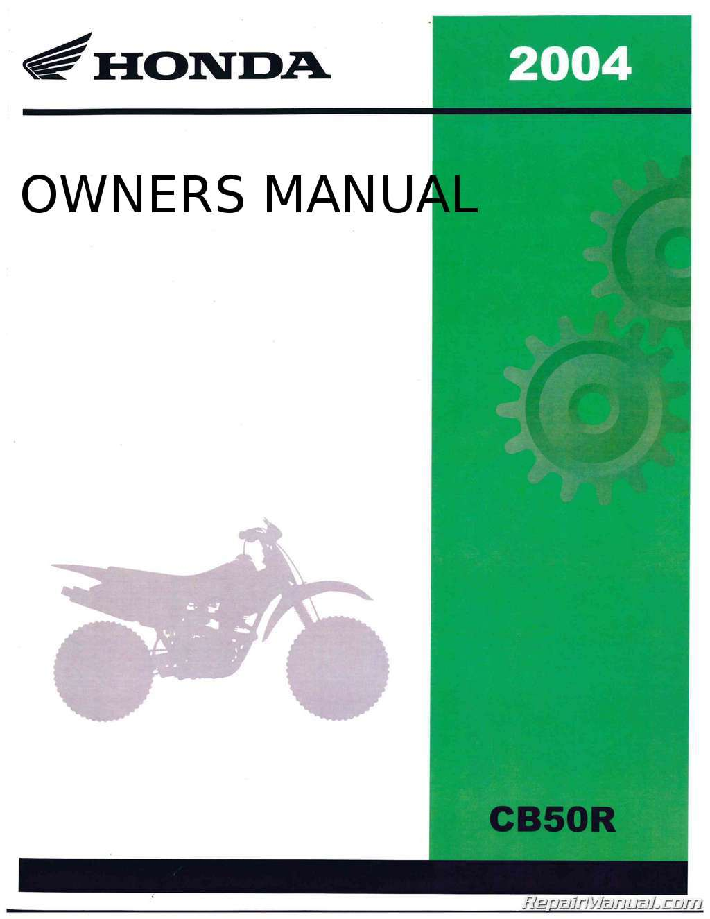 2004 Honda Cb50r Dream 50r Motorcycle Owners Manual