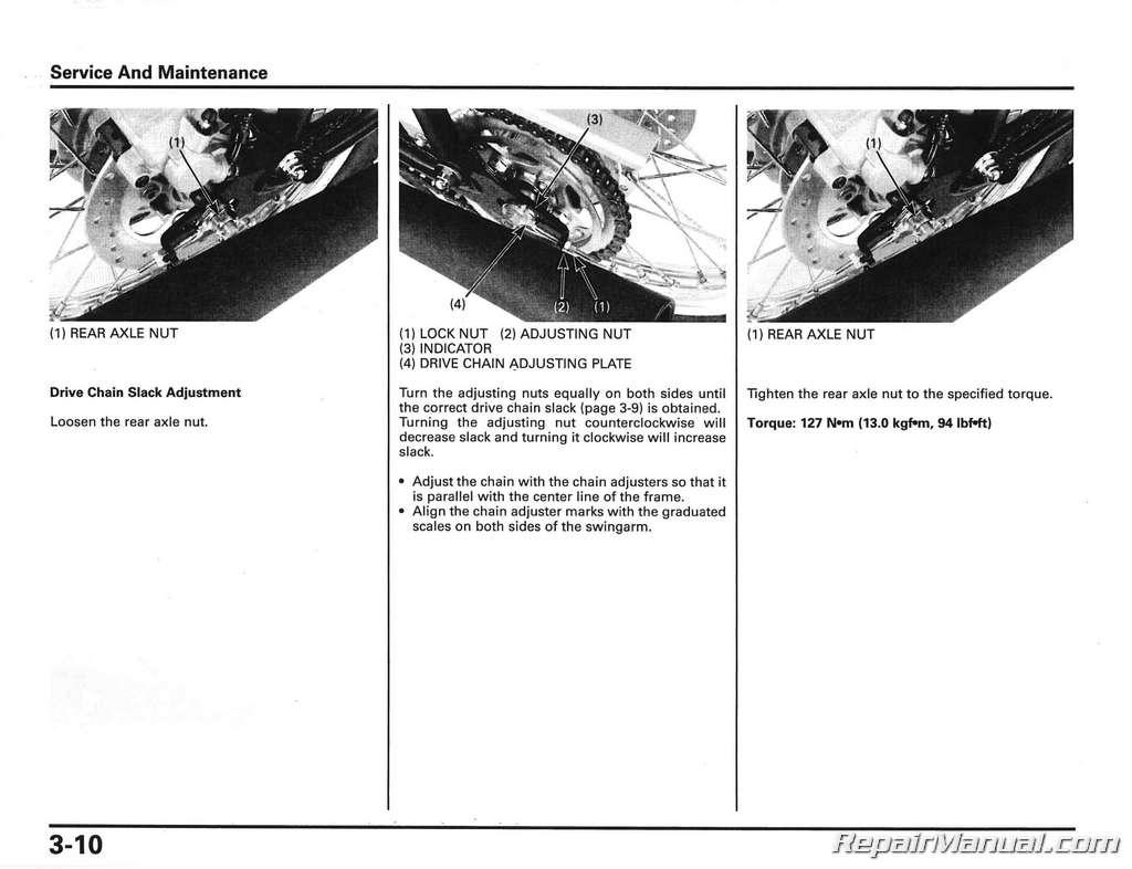 2016 honda cb500f owners manual