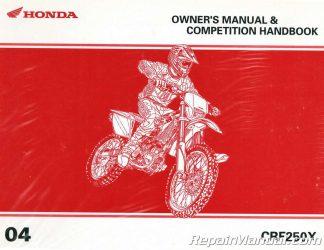 honda crf250x motorcycle manual service repair 2004 2009