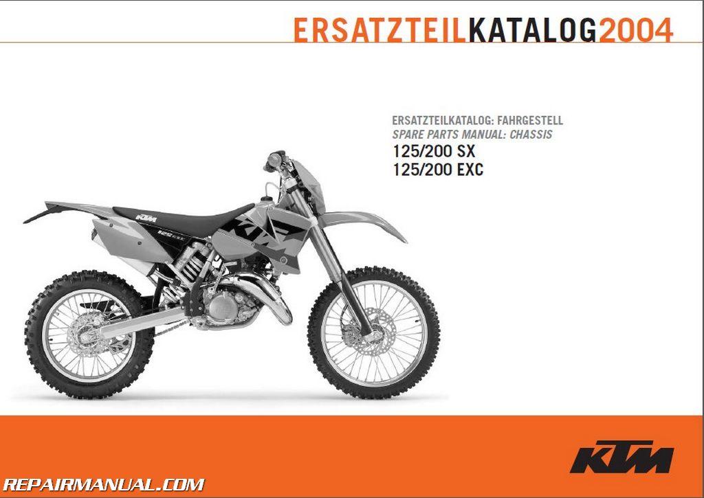 2004 ktm 125 200 exc sx chassis spare parts manual rh repairmanual com 2018 KTM 85 RM 85