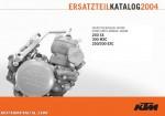 2004 KTM 250 300 SX MXC EXC Engine Spare Parts Manual