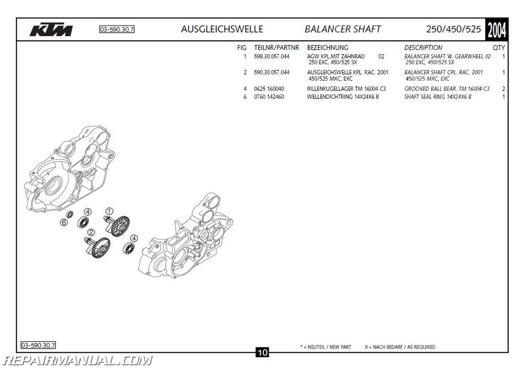 2004 ktm 250 450 525 exc sx mxc engine spare parts manual rh repairmanual com ktm parts manual download ktm parts manual download