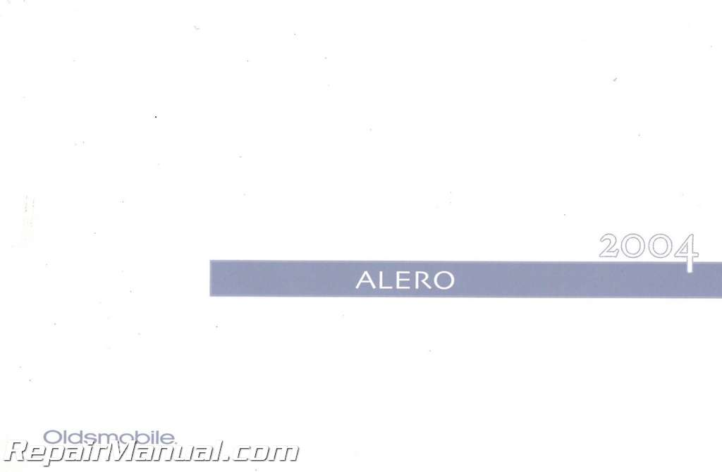 2004 oldsmobile alero owners manual rh repairmanual com Oldsmobile Alero Repair Guide 2004 oldsmobile alero owners manual pdf