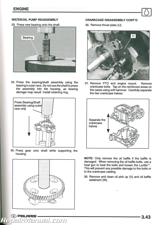 2004 Polaris Sportsman 600 700 Twin Atv Service Manual
