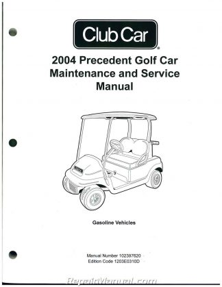 2004 precedent club car golf cart service manual rh repairmanual com Club Car Parts Club Car Precedent Custom Seats